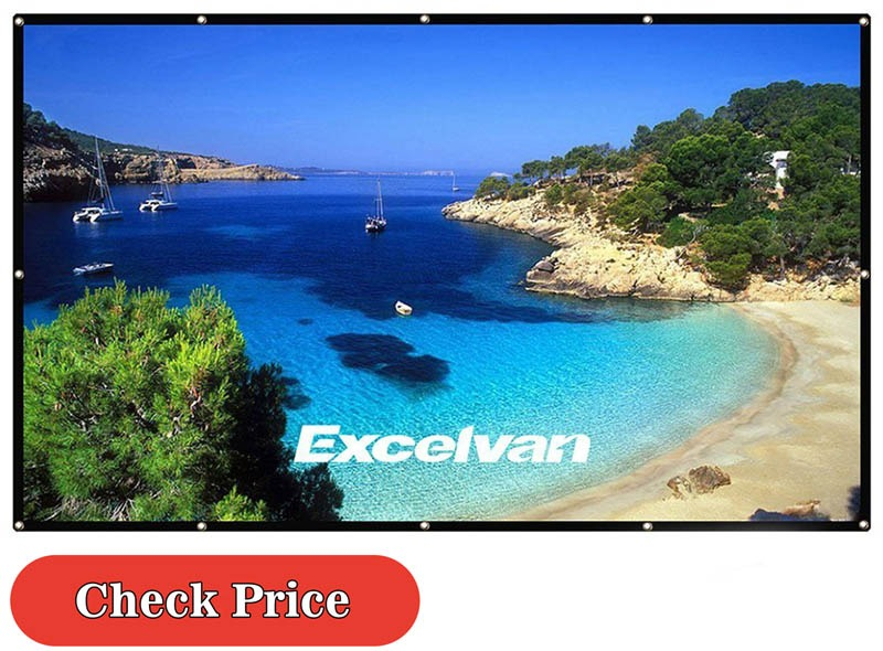 Excelvan outdoor projector screen