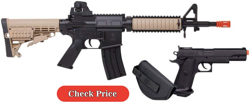 Game Face airsoft rifle and gun kit