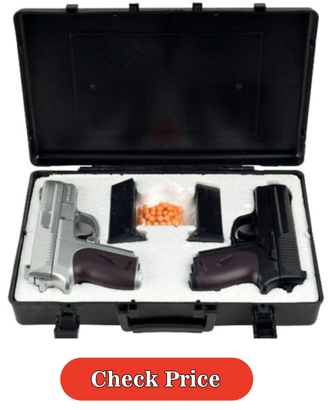 NEW CYMA TWIN SPRING AIRSOFT DUAL PISTOL COMBO