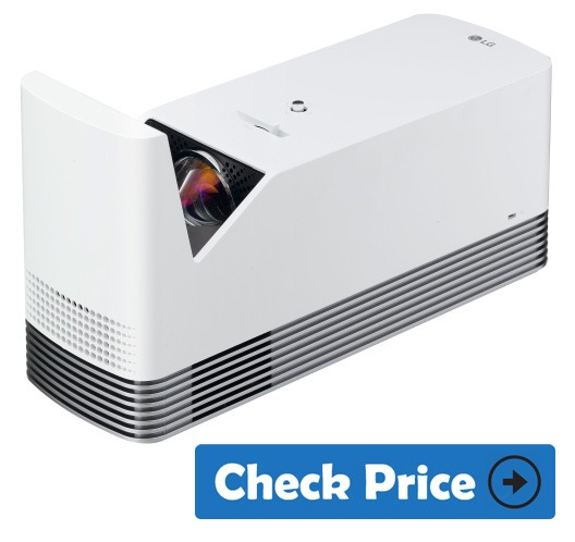 LG HF85JA short throw projector for gaming