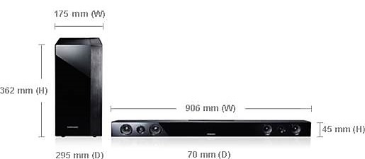soundbar Dimensions