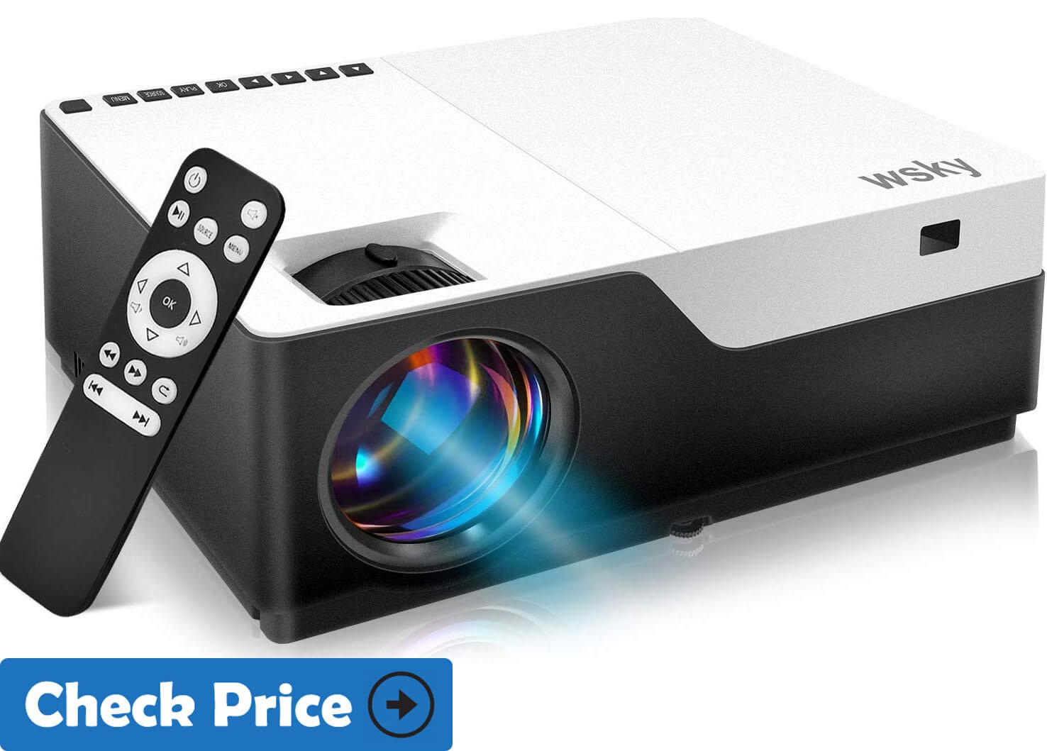 Wsky 1080P Projector under 300